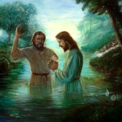 The Baptism - Oil Painting