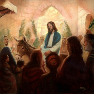 Palm Sunday - Oil Painting