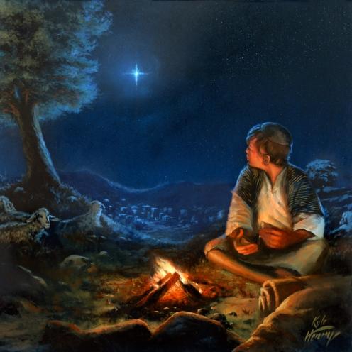 Shepherd Boy - Oil Painting